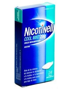 NICOTINELL MINT 2 MG 24 CHICLES RECUBIERTOS
